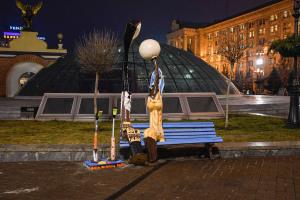 Влюблённые фонари в Киеве