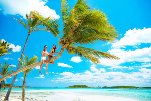 Влюблённые на Багамских островах