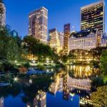 Центральный парк Нью-Йорка вечером