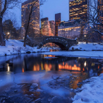 Центральный парк Нью-Йорка зимой