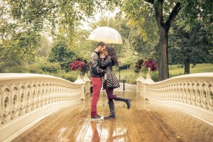 Влюбленные в Центральном парке