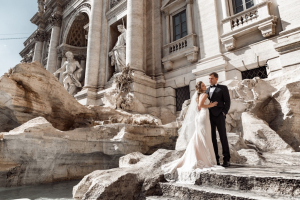 Фонтан Треви в Риме: фотографии свадьбы