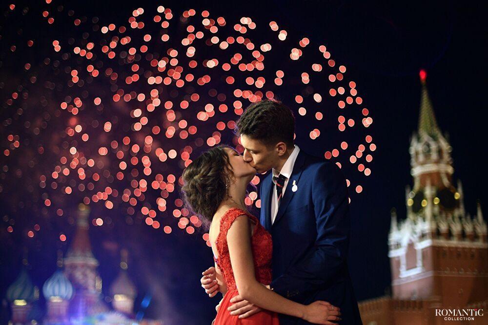 Влюбленные на Красной Площади