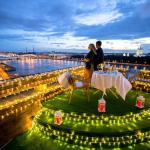 Романтичный ужин на крыше Санкт-Петербурга