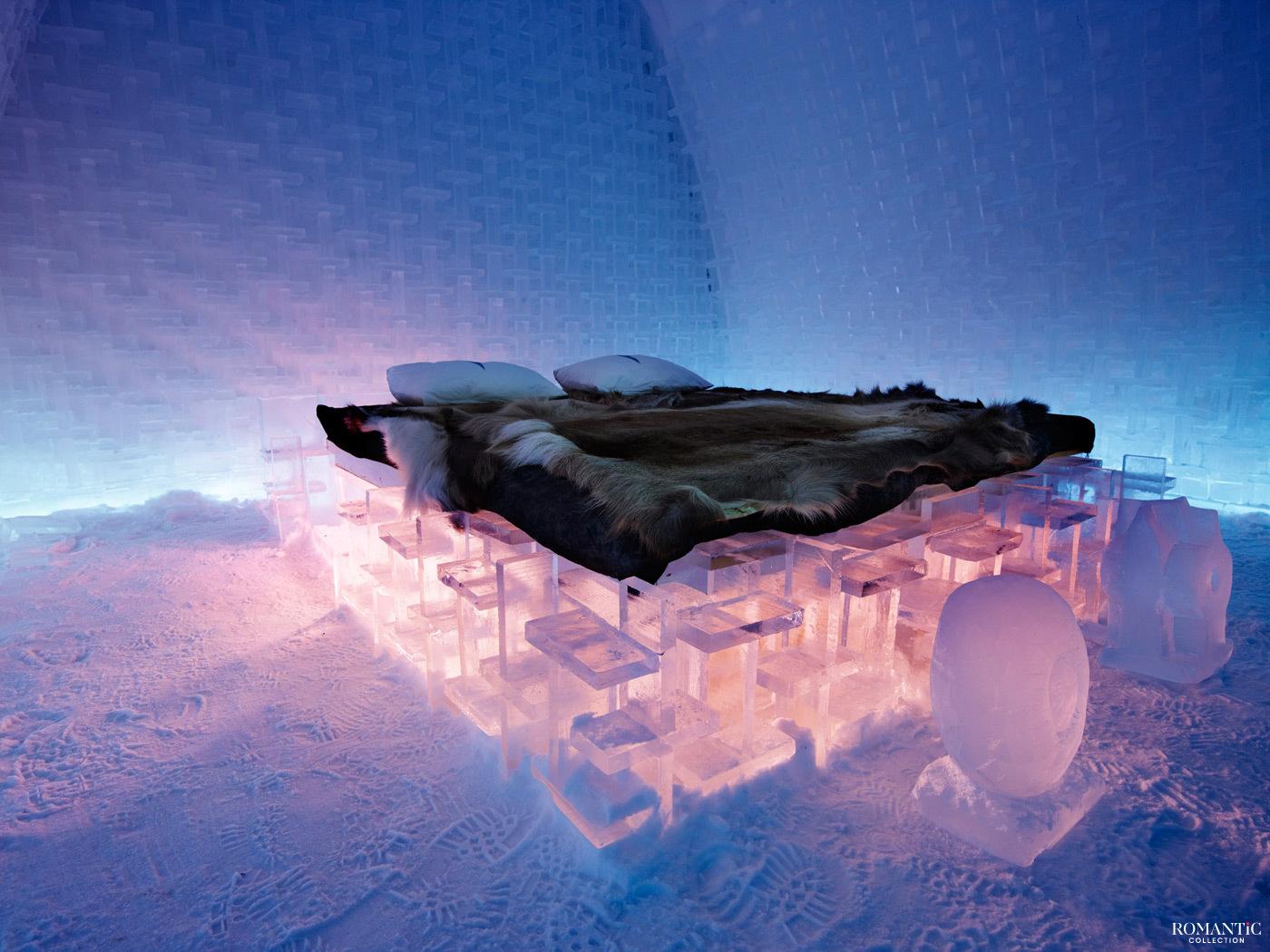 Спальня в ледяном отеле