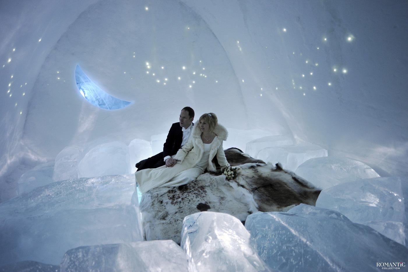 Свадьба в ледяном отеле в Юккасъярви