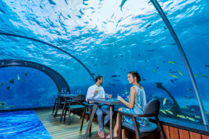 Подводный ресторан на Мальдивах