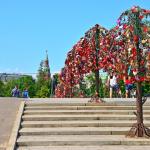 Деревья Любви на Третьяковском мосту