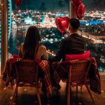 Панорамный романтический вид Москва-Сити