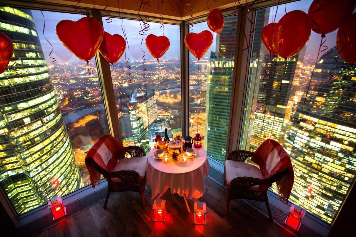 Романтический ужин в Москва-Сити
