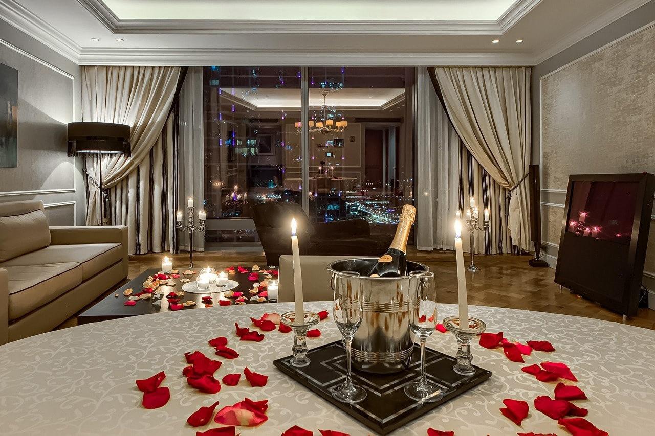 Романтическая ночь в отеле Москва-Сити