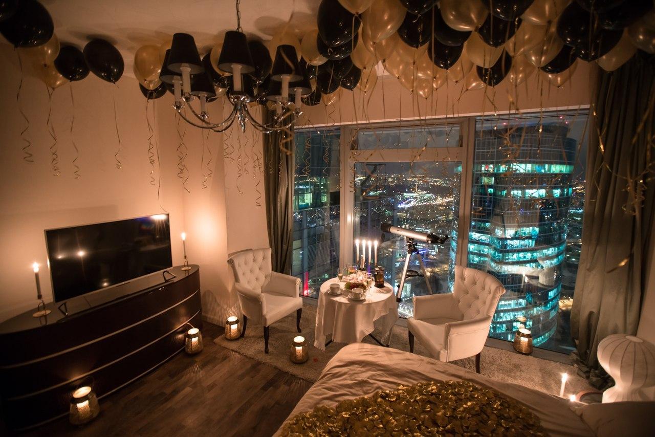Номер в отеле Москва-Сити для влюблённых