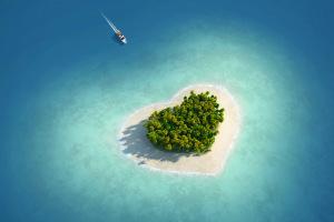 Острова  в форме сердца, созданные самой природой