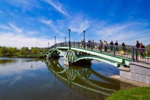 Мост через пруд в Царицыно