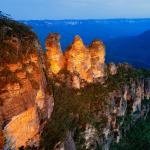Парк «Голубые горы» на закате