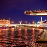 Ночной вид Парящего моста