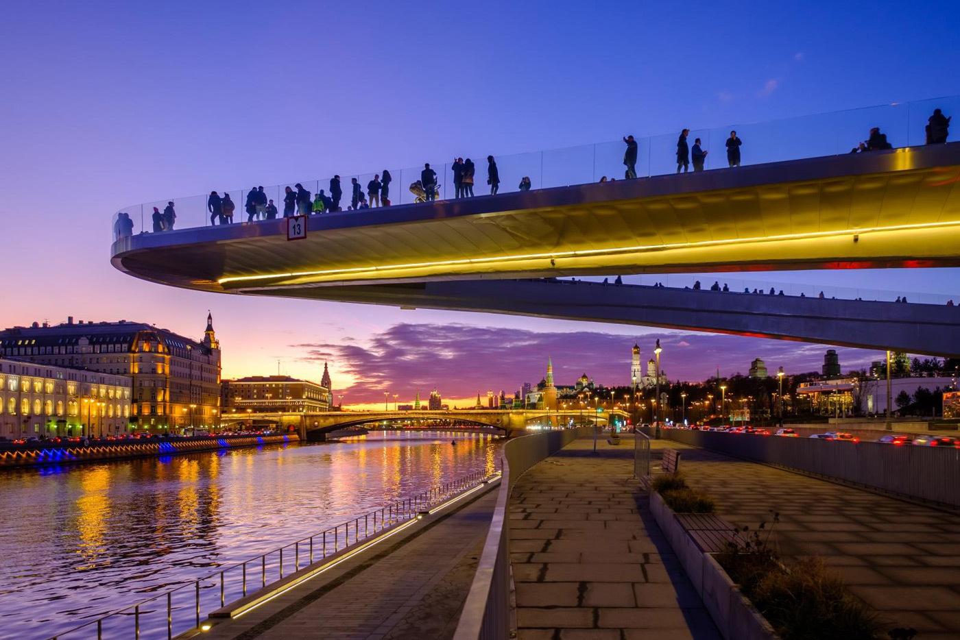 Закат на Парящем мосту