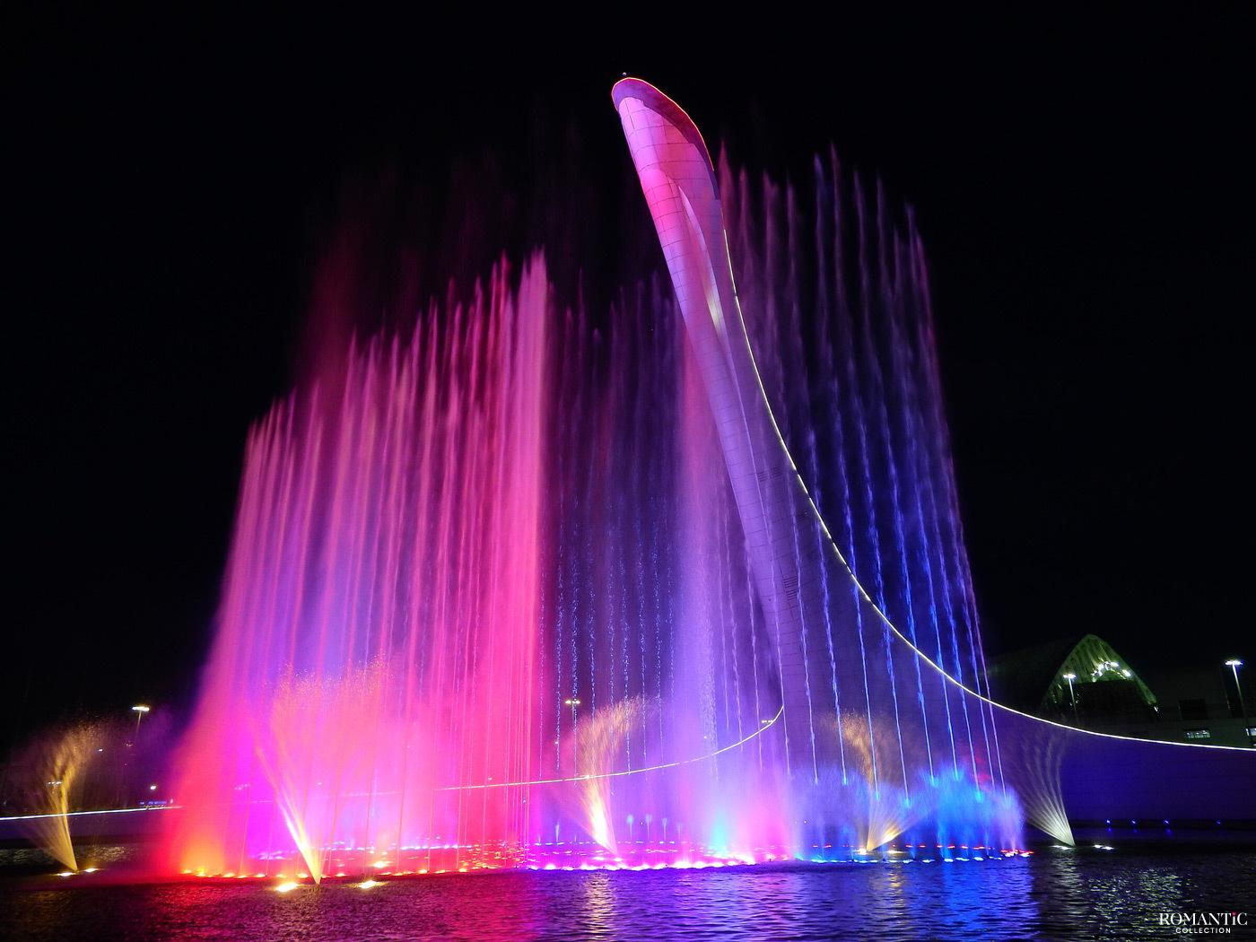 Поющий фонтан «Чаша Олимпийского Огня»