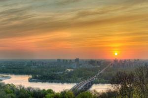 Рассвет на правом берегу Днепра