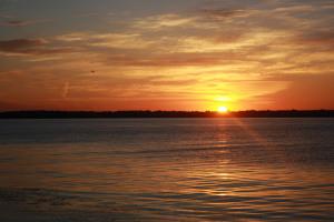 Рассвет над Киевским морем