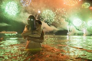Новогодний салют в Рио де Жанейро