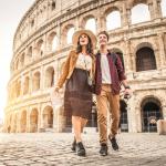 Влюбленные около Колизея
