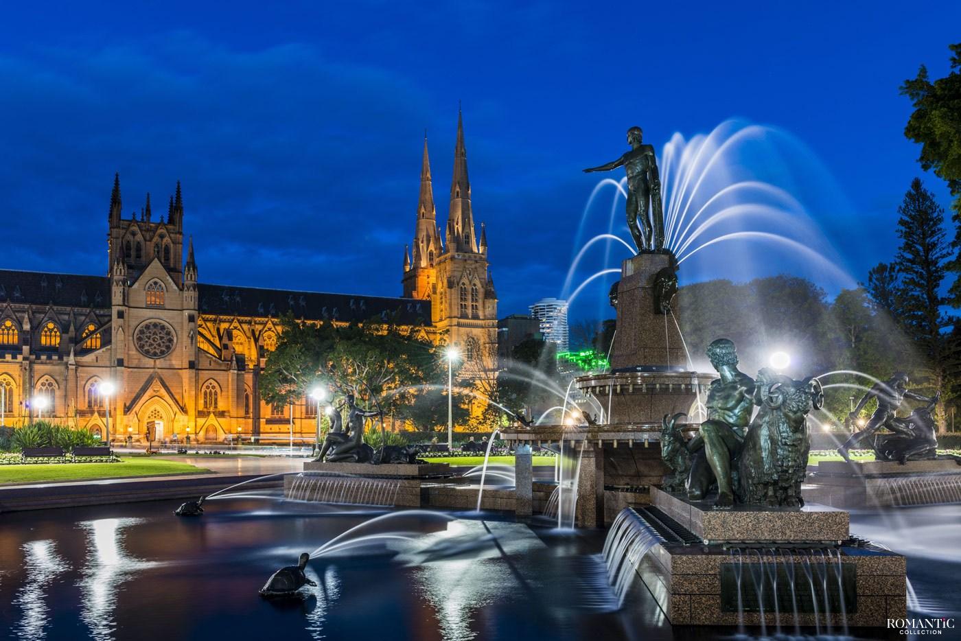 Фонтан Арчибальд. Сидней, Австралия