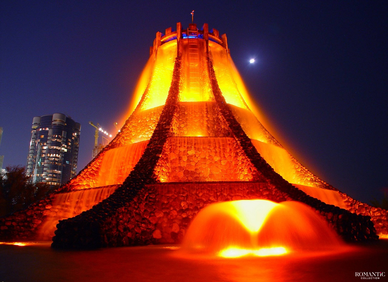 Фонтан-вулкан, ОАЭ