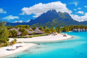 Пляжи Бора-Бора, Полинезия, южная часть Тихого океана