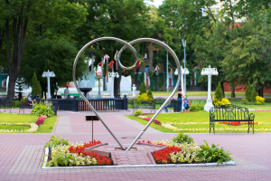 Сердце любви в Саду Эрмитаж в Москве