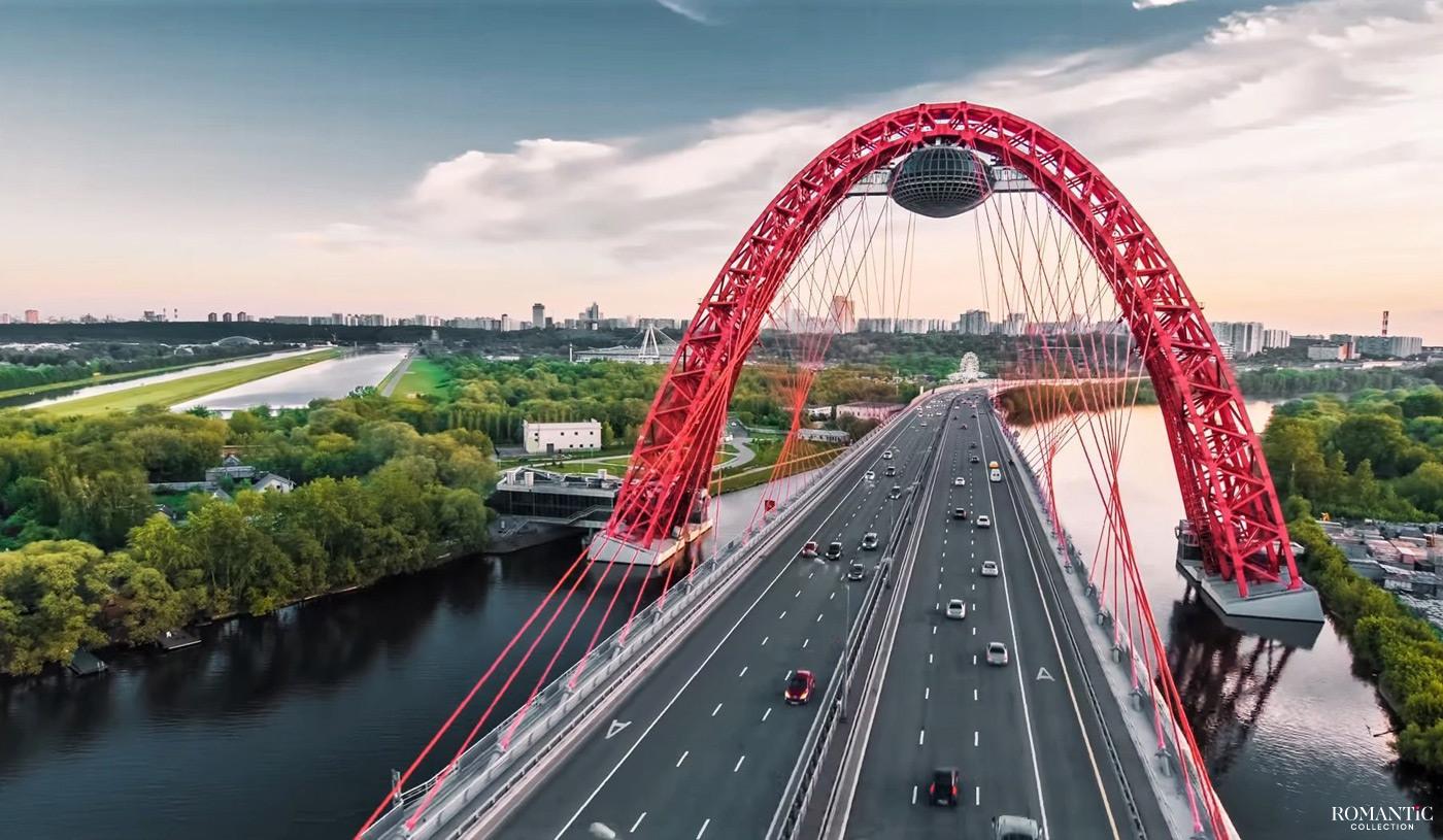 Живописный мост в Сосновом Бору