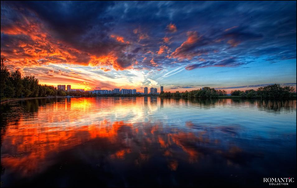 Закат в Сосновом Бору