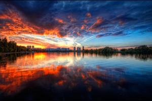 Волшебный закат в Сосновом Бору