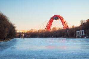 Живописный мост зимой