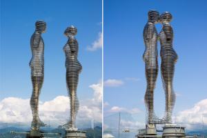 Скульптура любви «Али и Нино»