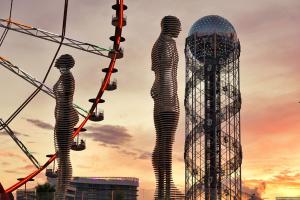 Скульптура любви на закате