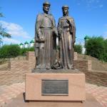Памятник Петра и Февронии Муромских в  Абакане