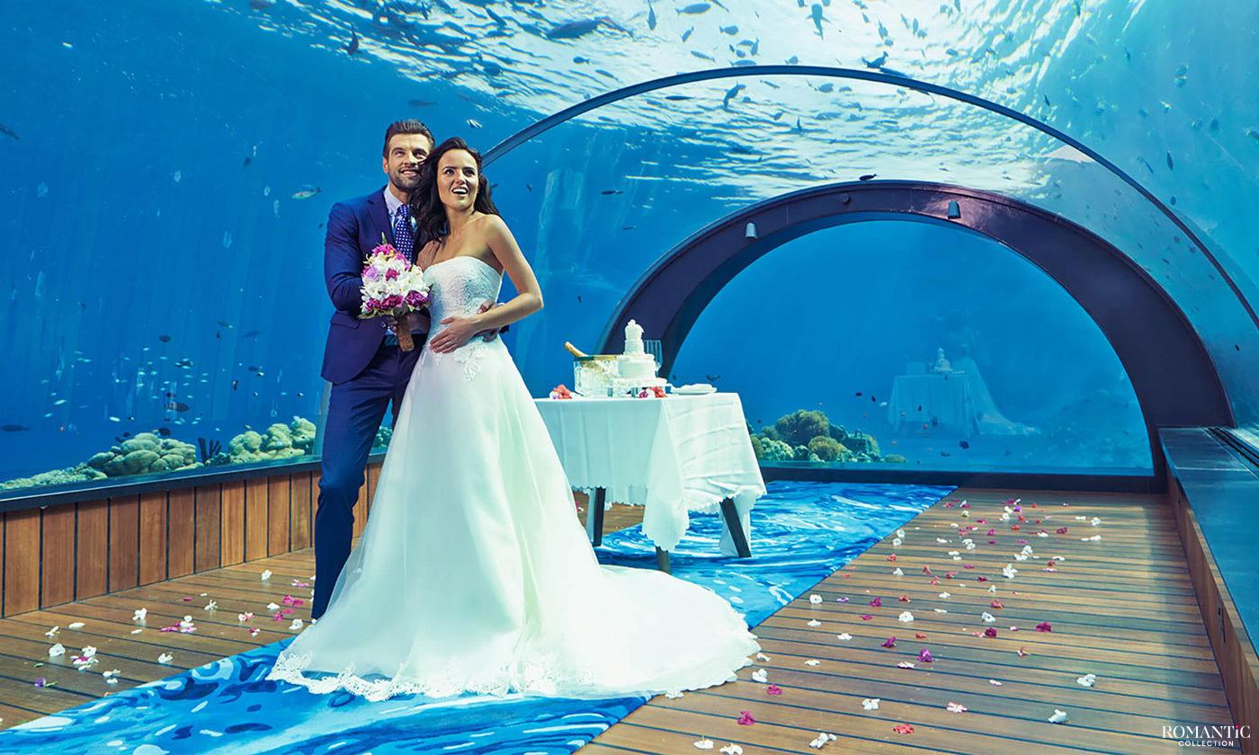 Свадьба в подводном ресторане на Мальдивах