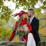 Свадьба в Германии во время фестиваля