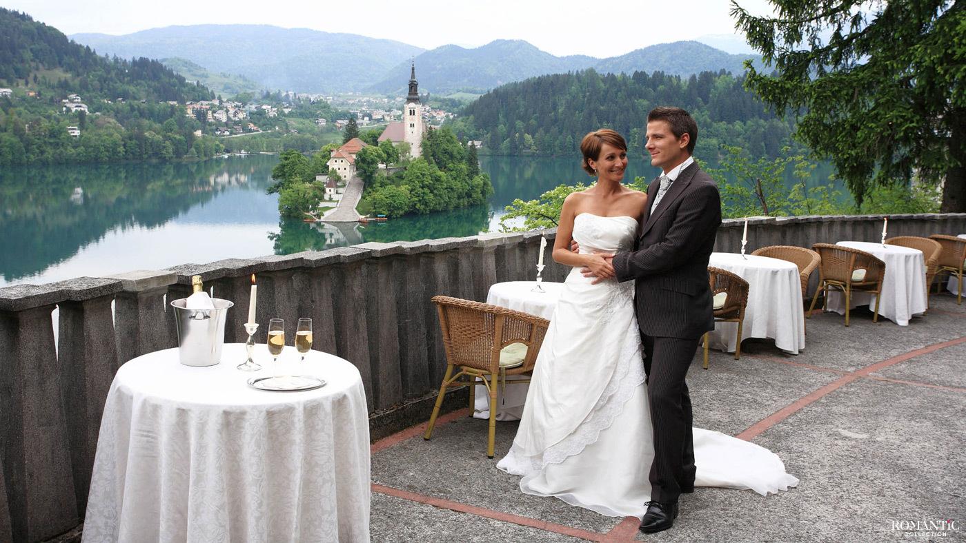 Свадьба в Словении в замке на острове
