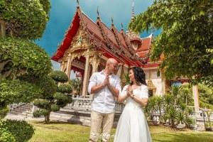 Свадьба в храме Таиланда