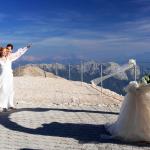 Свадьба в Анталии на канатной дороге в горах Тахталы