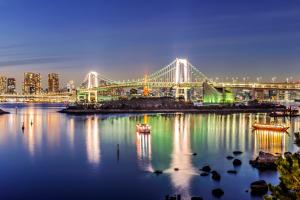 Токийский залив ночью
