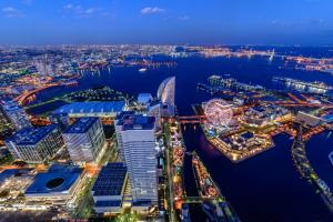 Токийский залив с высоты птичьего полёта